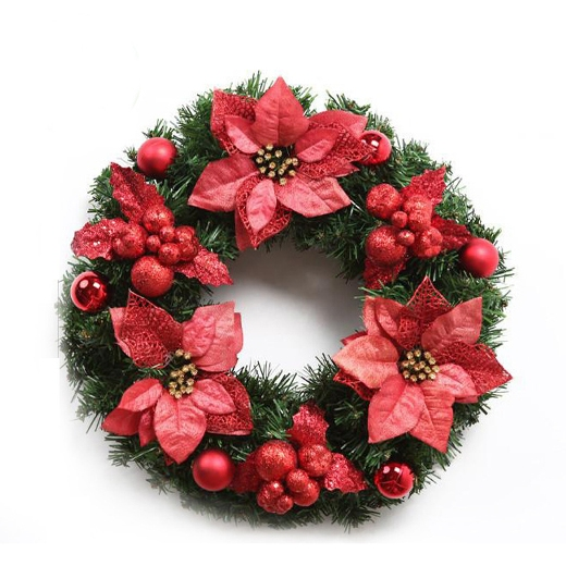 New Year & Christmas Home Accessories Artificial Flowers Simulation Wreath Decoration
