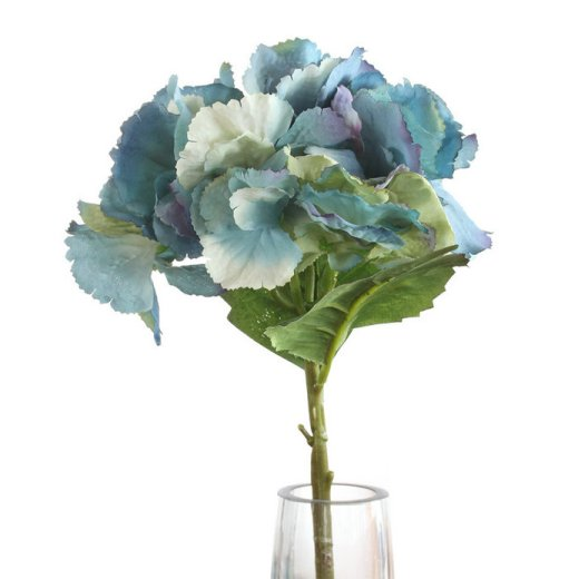 Beautiful Silk Flower Arrangement in a Glass Vase