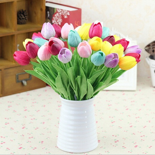 Multi-Coloured Tulip Artificial Flowers Home Decorations