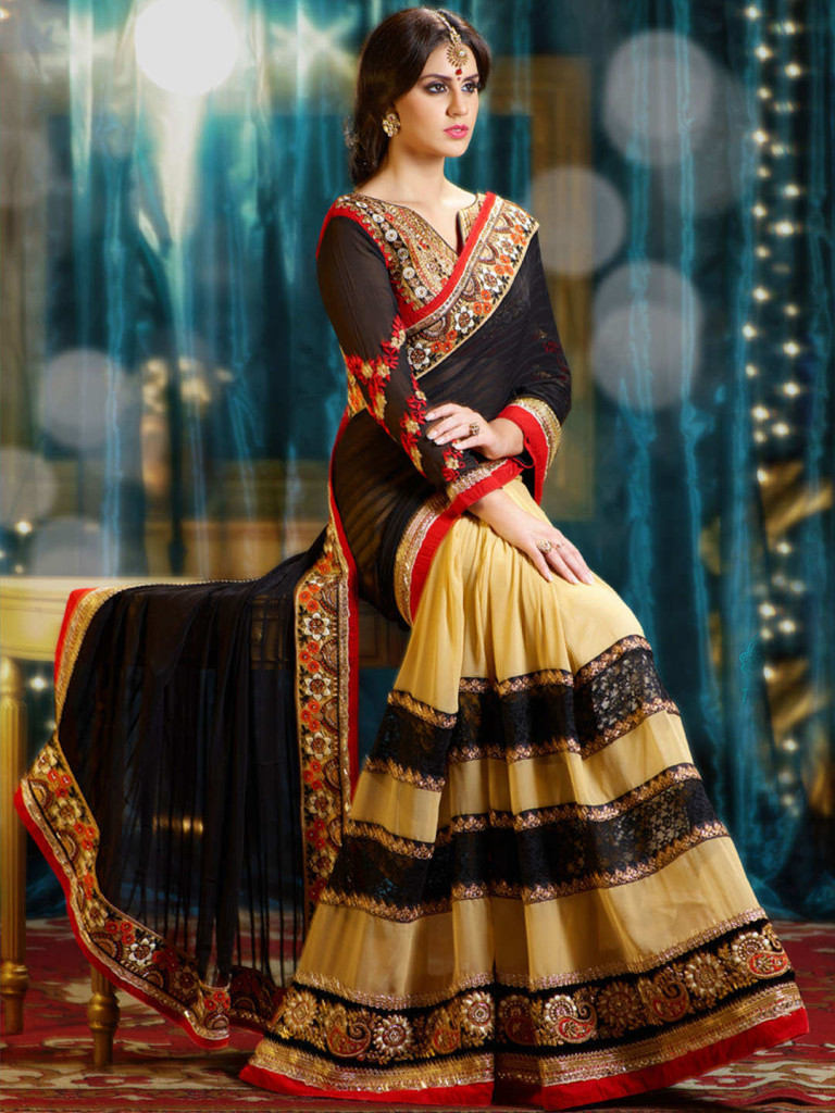 Latest & Modern Indian Saree & Blouse