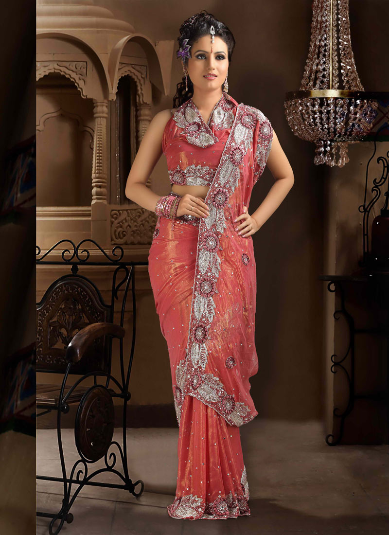 Indian Bridal Saree Beautiful Design Pattern