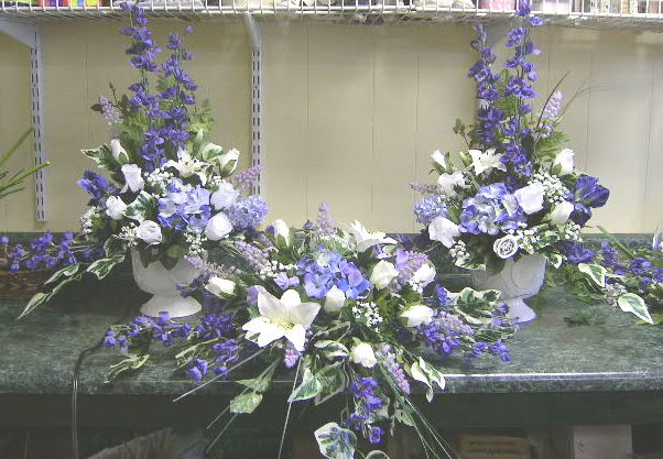 Purple/White Artificial Flowers for Wedding
