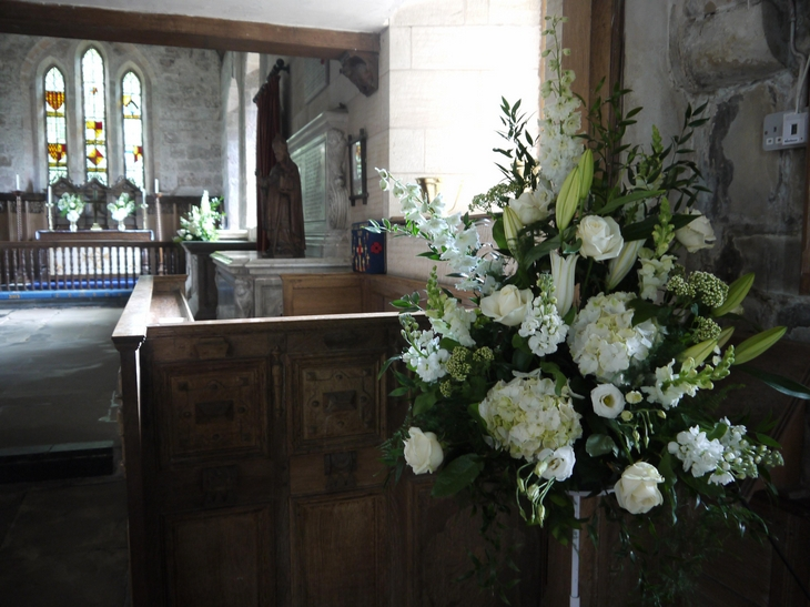 Church Pedestal Silk Flower Arrangements for Wedding