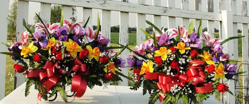 Colorful Flower Arrangement Church Silk Wedding Altar Vases