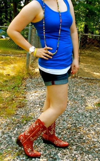 Cowboy Boots with Classy Shorts with Casual Shirt