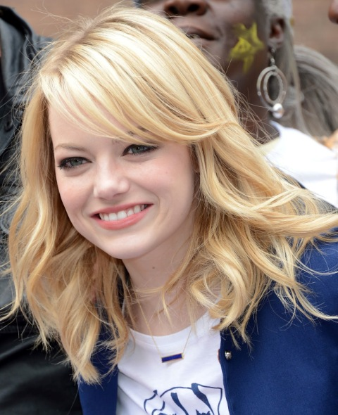 Emma Stone's Best Haircut for Long Necks and Round Faces