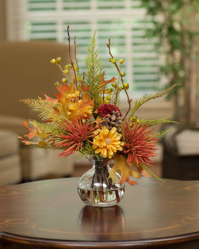 Harvest Moon Silk Flower Arrangement Idea