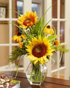 Silk Sunflower Arrangements for Dining Room Table