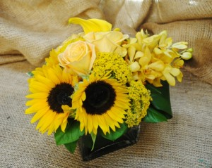 Artificial Sunflower Centerpieces