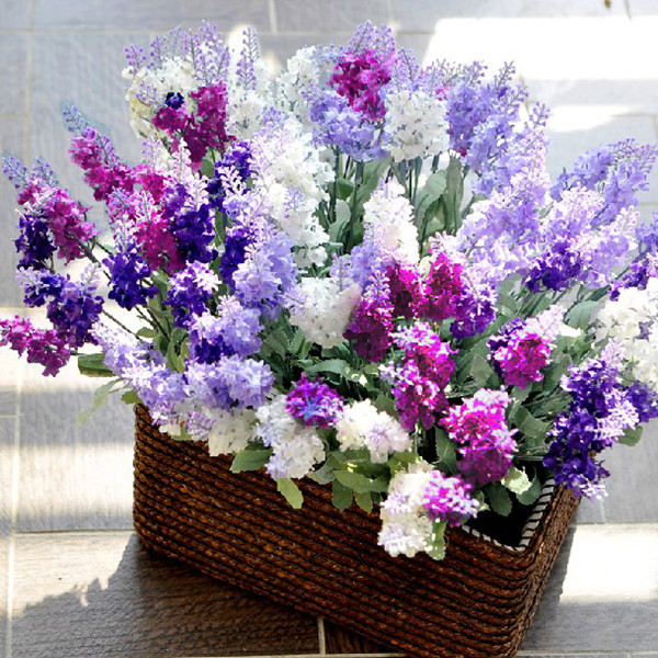 Pink, Purple and White Fake Flower Ideas