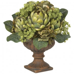 Chic Silk Flower Centerpieces Design with Dark Green Leaf