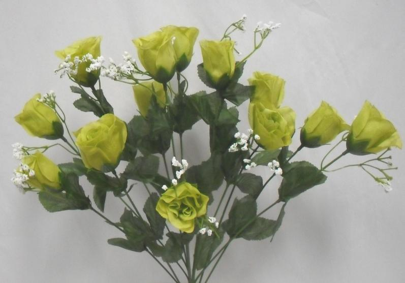 Green Silk Flowers Wedding Decorations