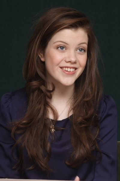 Georgie Henley Long Wavy Hair Color Picture