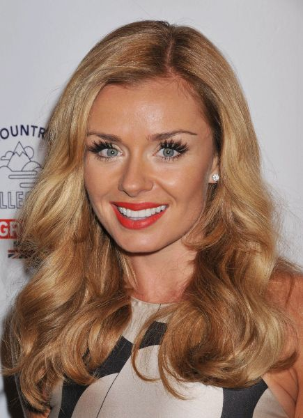 Katherine Jenkins's Best Haircut for Long Necks and Round Faces