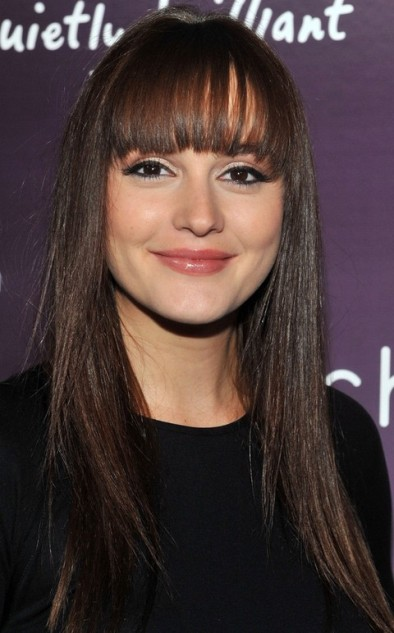 Leighton Meester Blonde Natural Bangs
