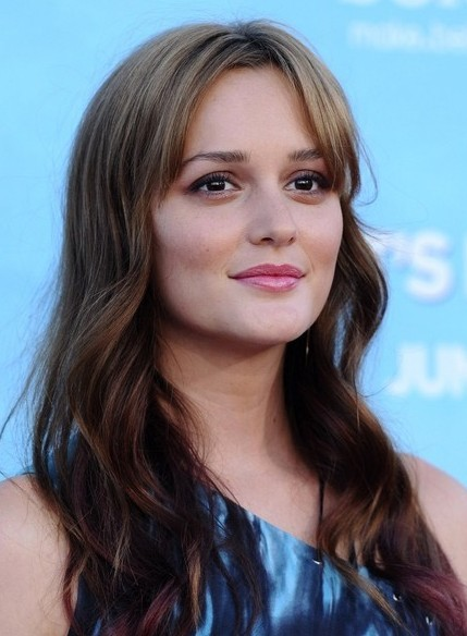 Leighton Meester Long Loose Wavy Curly Hairstyle