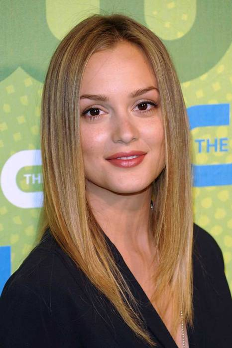 Leighton Meester Straight Fringes Hairstyle