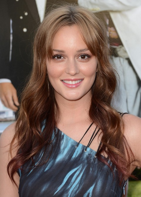 Leighton Meester Long Curly Blonde Hair