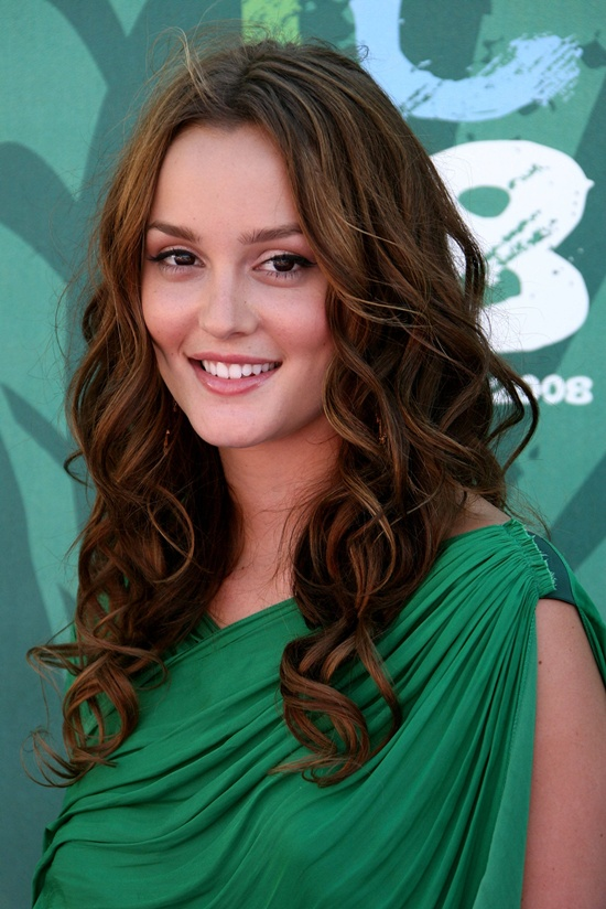 Leighton Meester Casual Dark Blonde Hairstyle