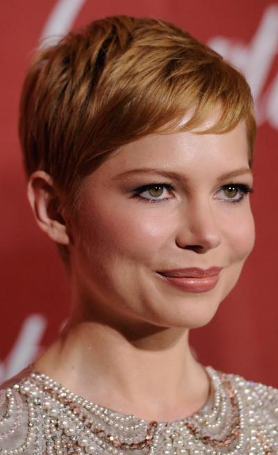 Michelle Williams has Best Haircut for Long Necks and Round Faces