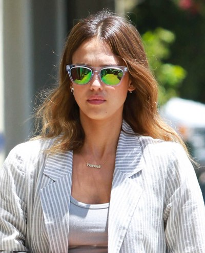Jessica Alba Honest Sign Necklace for Long Neck