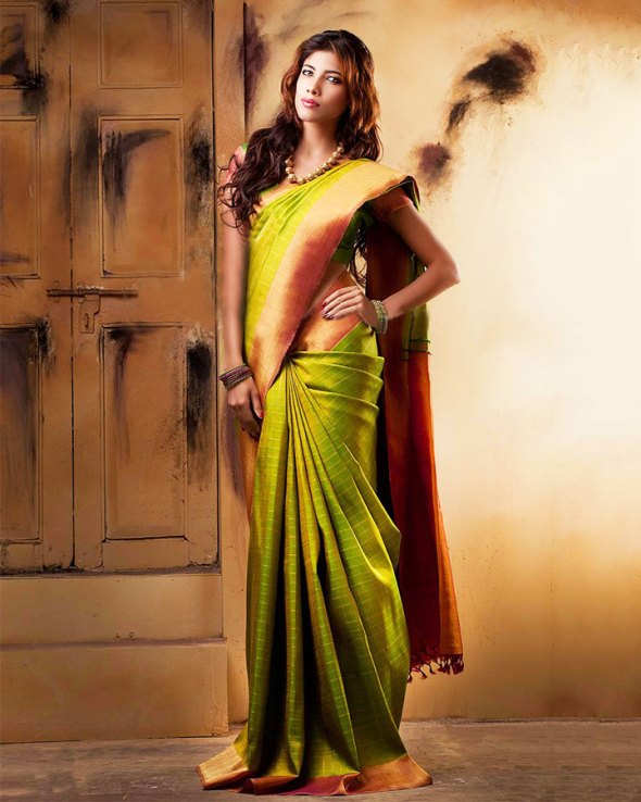 Green Wedding Saree Design for South Indian