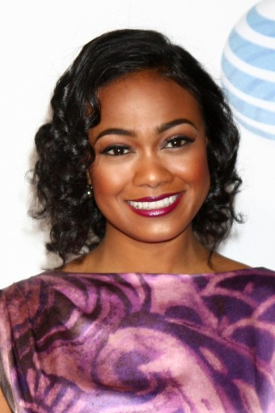 Tatyana Ali Curly Hair for Round Face