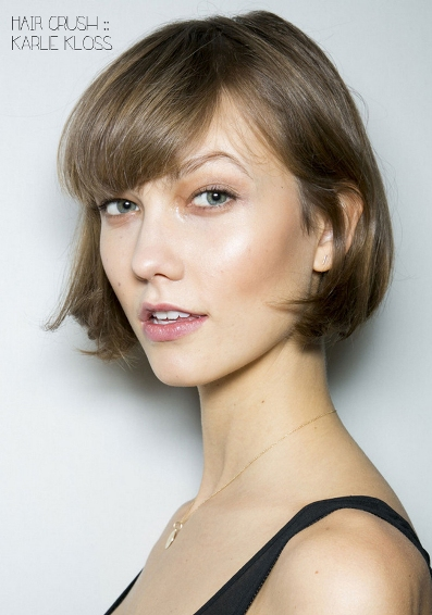 Beautiful Short Haircut over Long Neck
