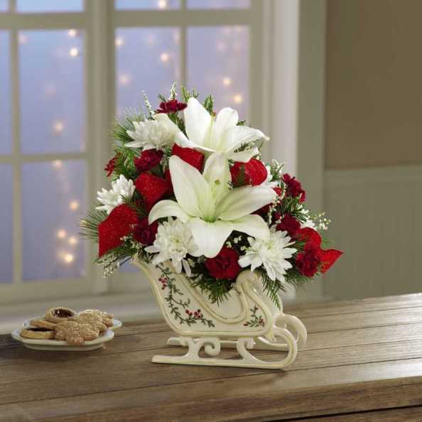 Love bug Flowers Arrangement Idea for Xmas