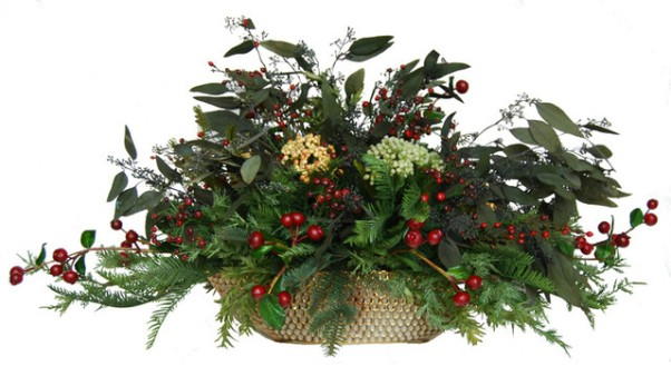 Christmas Silk Floral Centerpiece Arrangements