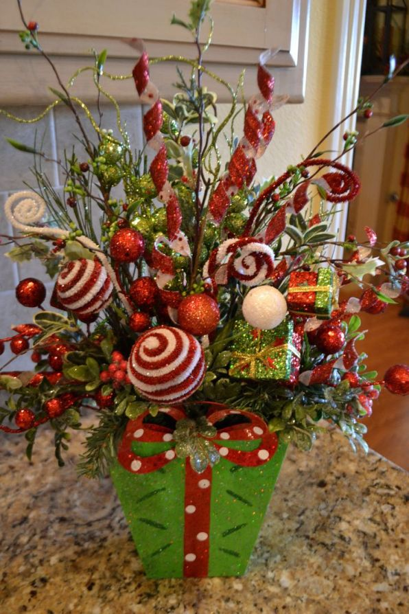 Whimsical Christmas Flower Arrangements