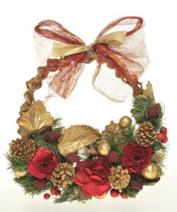 Artificial Flower Wreaths Ornaments for Christmas