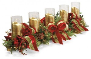 Christmas Candle Garland Decoration Ideas