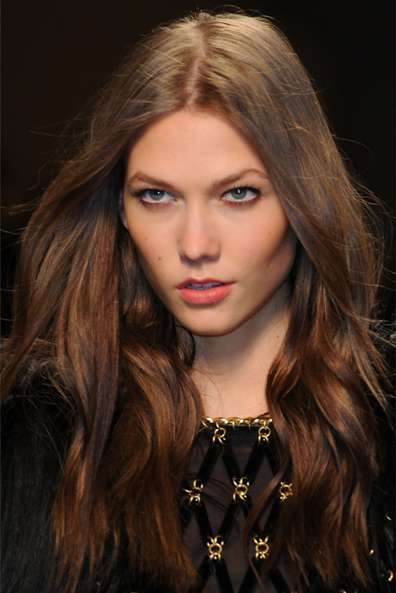 Dark Brown Hair Color by Karlie Kloss
