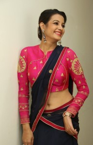Deeksha Panth's Hot Pic 3 Wearing Indian Backless Saree