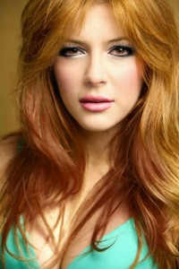 Elena Satine's Thick Long Wavy Haircut with Side Swept Bangs