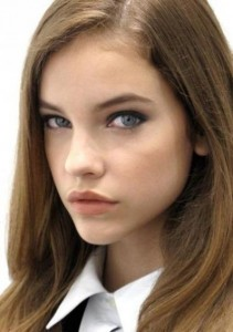 Barbara Palvin's Side Swept Bangs