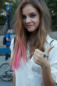 Purple Highlights Promoted by Barbara Palvin