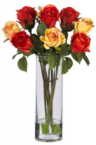 Picture for Silk Rose Flower in Vase